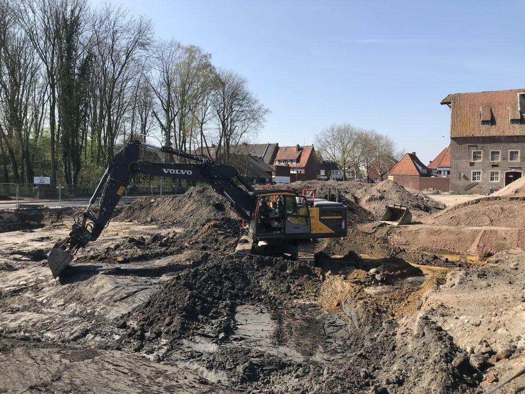 Erdarbeiten am Mühlenplatz  – Kampfmittelüberprüfungen durchgeführt.